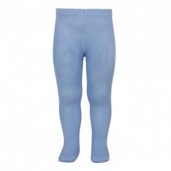 Leotardo liso azulado